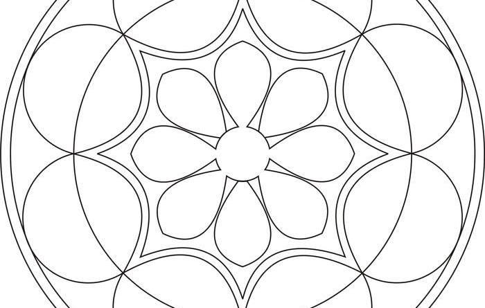 onam pookalam designs outline - 20