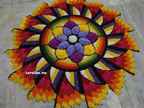 Onam Pookalam Design 73