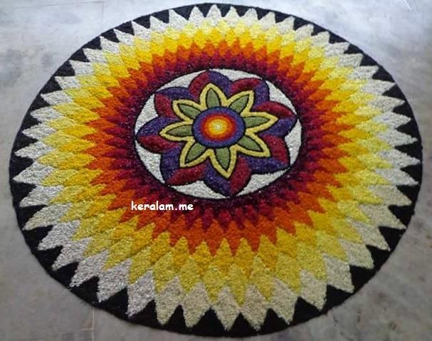 Onam Pookalam Design 51, onam 2020