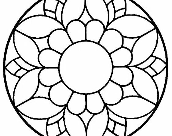 simple onam pookalam outline designs - 12, onam