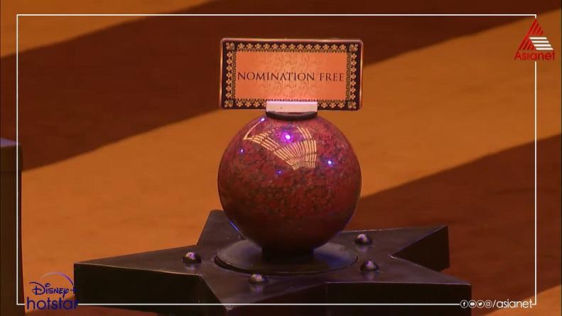 Nomination Free captaincy task - Bigg Boss Malayalam season 3