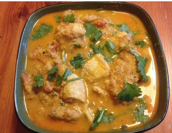 Kerala Fish Curry (Fish Cooked in Coconut & Masala)