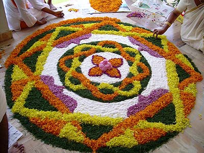 scent of flowers pervades onam