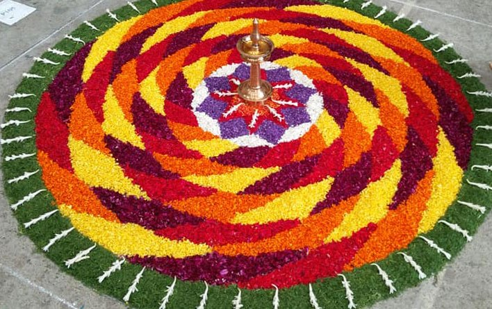 3d Pookalam designs , onam celebration