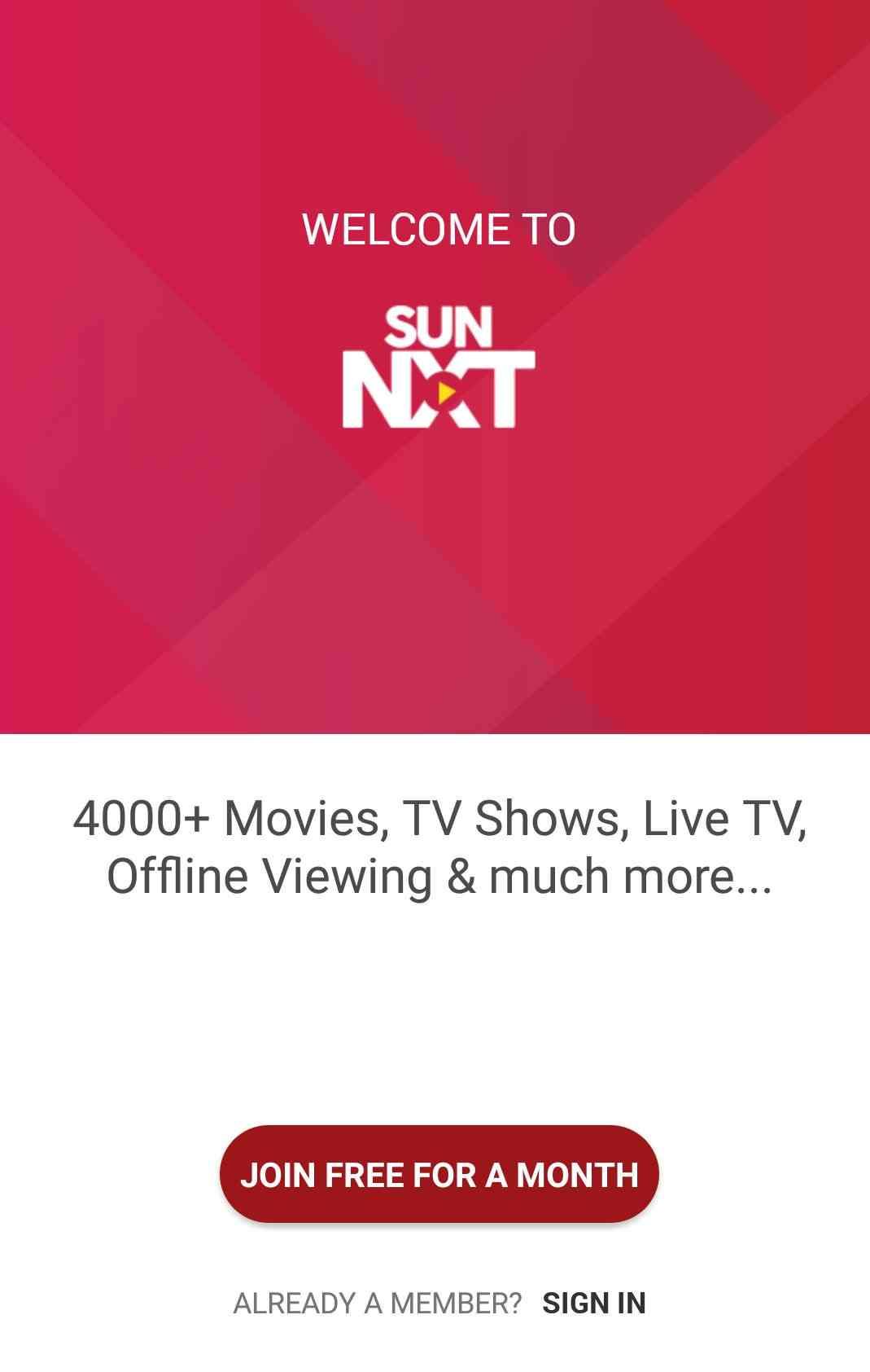 Sun Nxt App