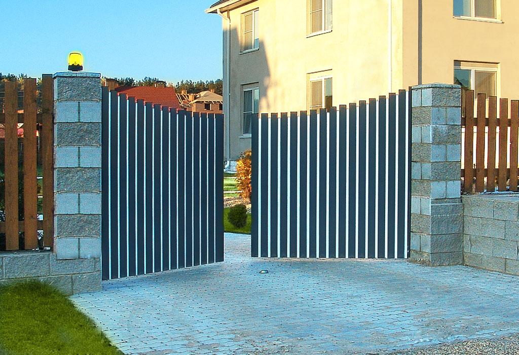 ADS400 – достойные распашные ворота для дома и дачи.