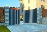 Распашные ворота Алютех