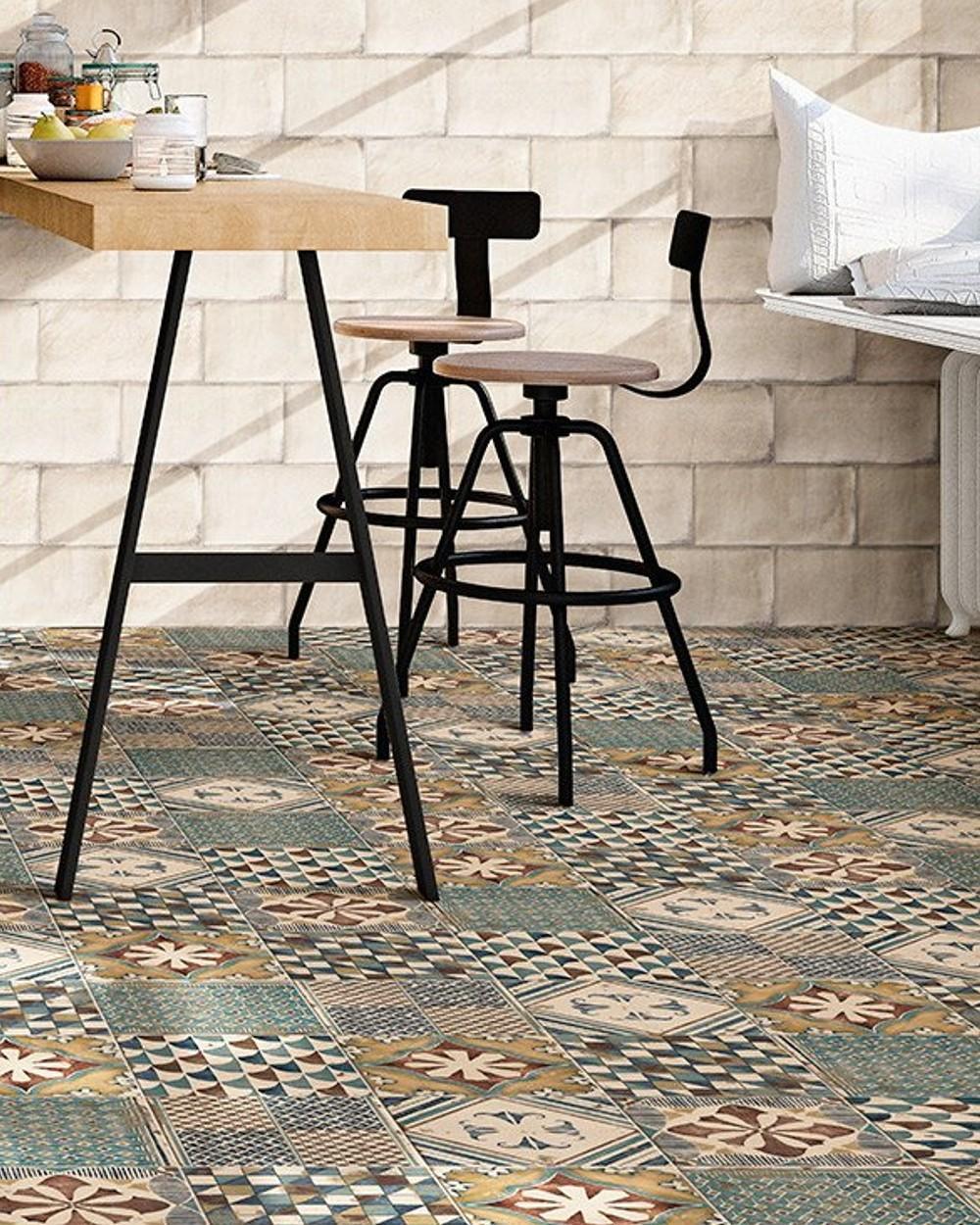 retro floor tile 20x20 cm pav padua mix