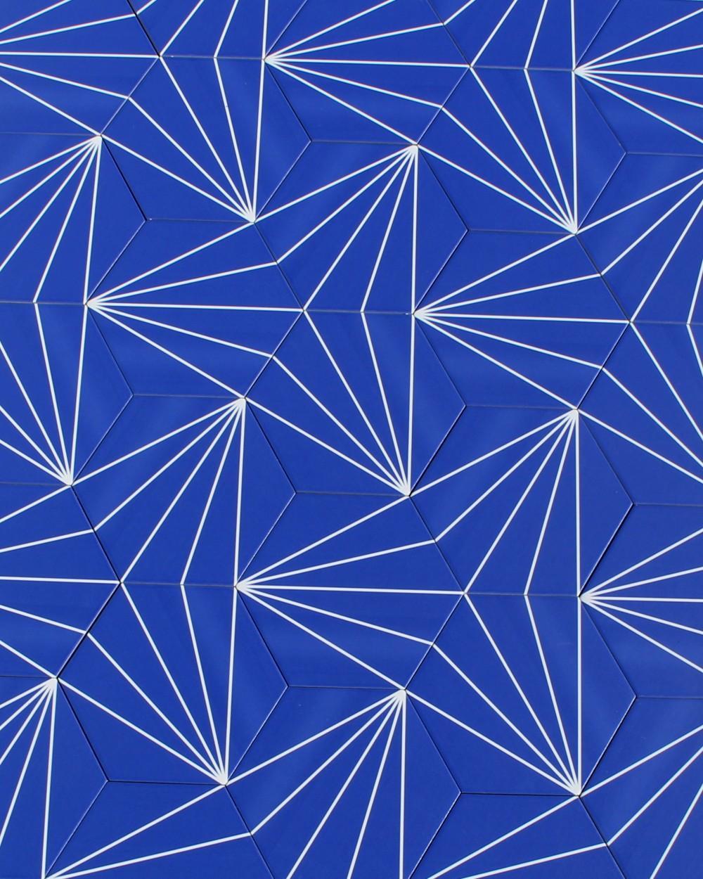hexagon design tile stripes porcelain stoneware blue tile online shop
