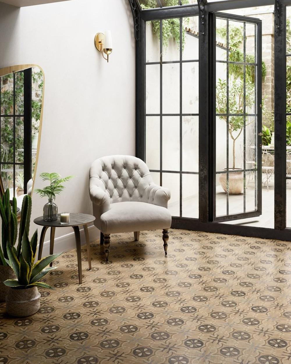 vintage tiles with 70 s style wood coloured pattern tile online shop