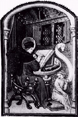Saint Matthieu Scriptorium Moyen Age