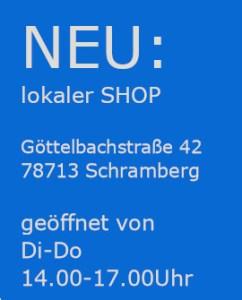 Öffnungszeiten Shop