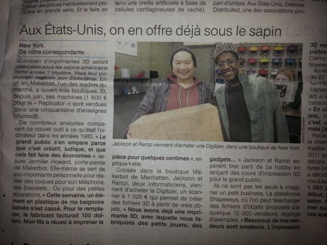 Impression 3d grand public 2 kerink - Ouest france le journal gratuit ...