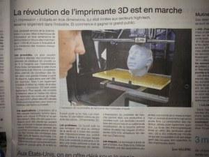 Article de Ouest France 07/12/2013 à propos de la révolution en marche dans l'impression