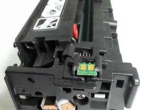 Les contacts électriques cuivrés sont primordiaux sur les cartouches d'encre