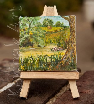 Around the Pond Miniature Art