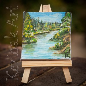 River Landscape Miniature Art