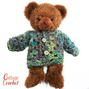 childs chunky crochet cardigan