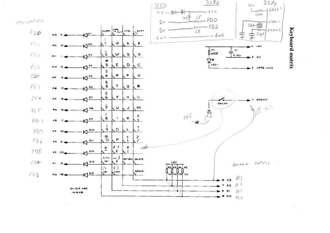 usb keyboard schematic electrical wiring diagrams rh cytrus co Keyboard Schematic Diagram Keyboard Schematic Diagram