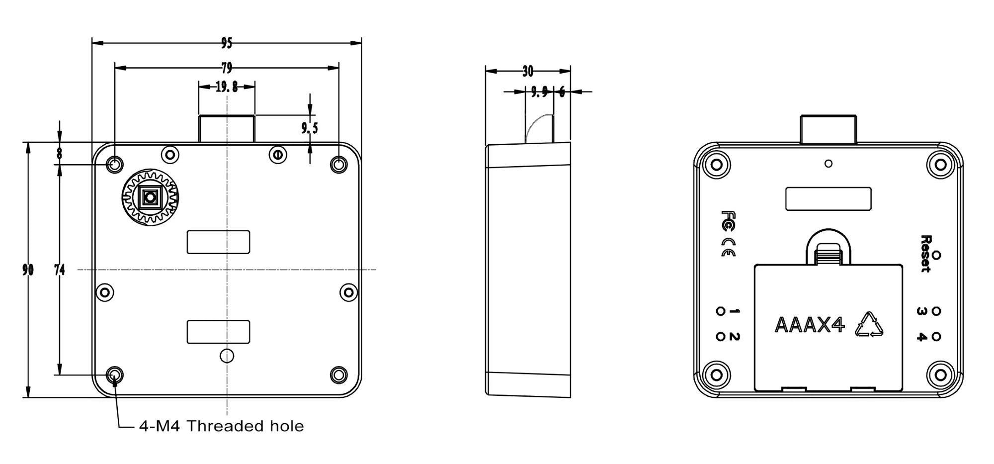 China Customized Bluetooth Keyless Cabinet Door Lock