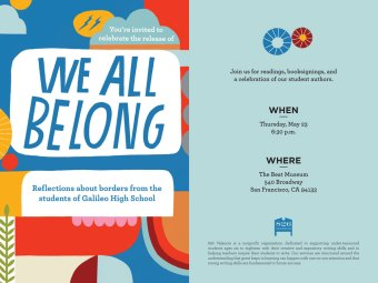 'We All Belong' - Galileo High School & 826 Valencia Book Release