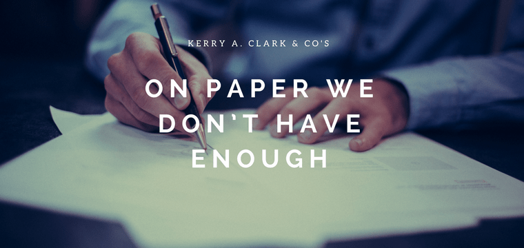 On Paper We Don't Have Enough