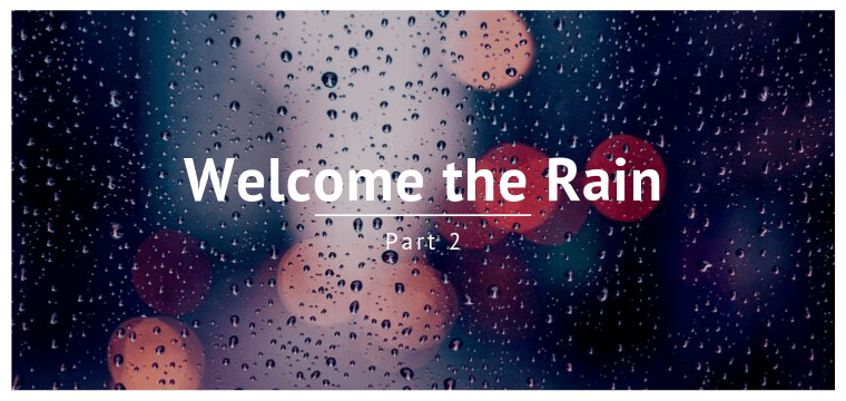 Welcome the Rain – Part 2