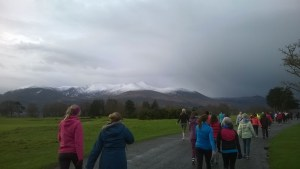 The Golf Club and snow capped Reeks