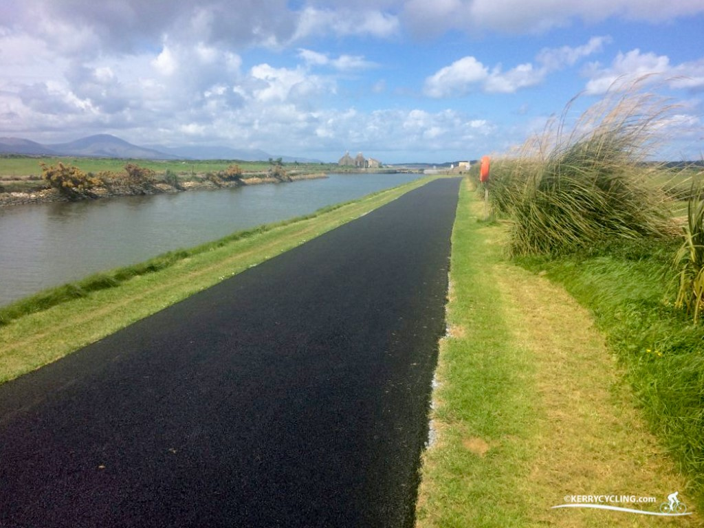Cycling along Tralee's Canal