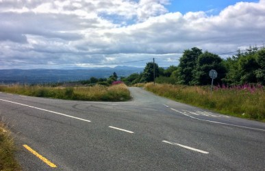 The Maum summit from the Castleisland to Listowel road