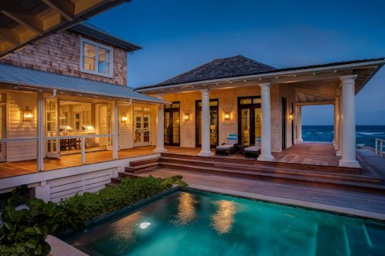 Outdoor living spaces, Luxury Beach house, Bahamas house rental