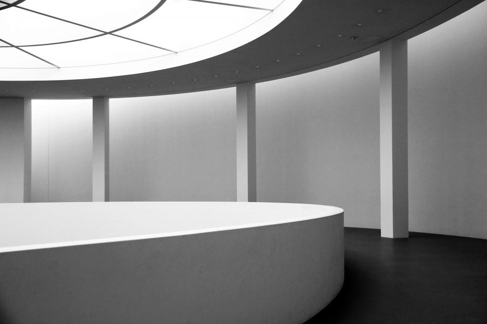 Architekturfotografie von der Rotunde der Pinakothek der Moderne