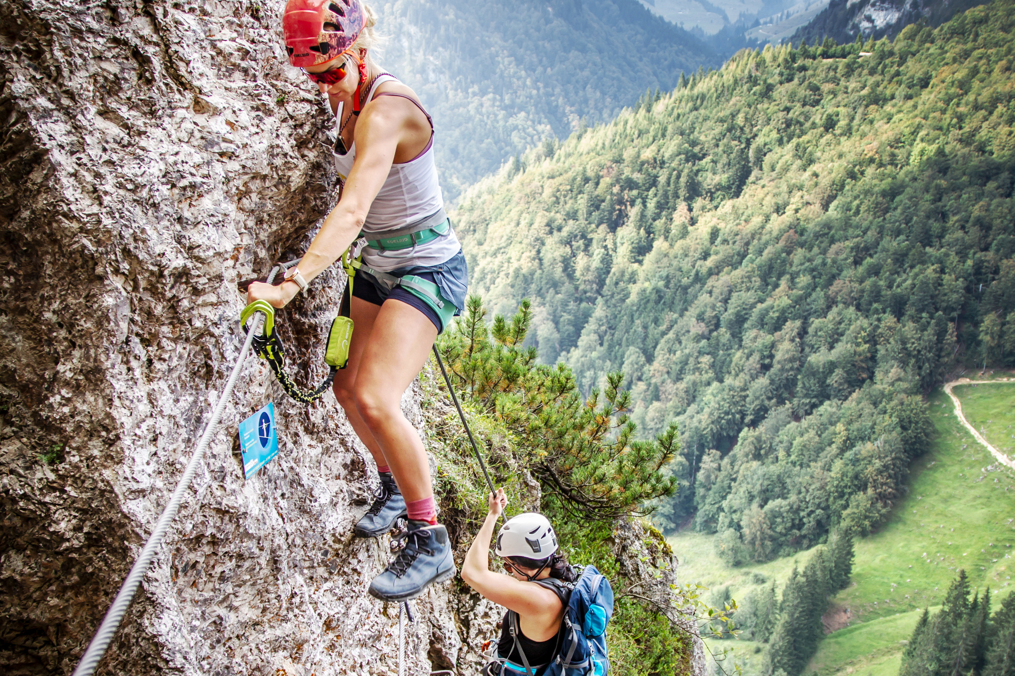 Kletterfotografie unterwegs am Klettersteig Ottenalm bei den womens power days