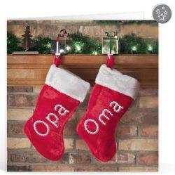 Kerst tekst opa en oma voor op een kaartje