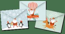 3 DIY Kerst Enveloppen pritables