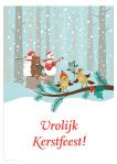 Kerstkaart met kerstspel: Vogeltjeskoor
