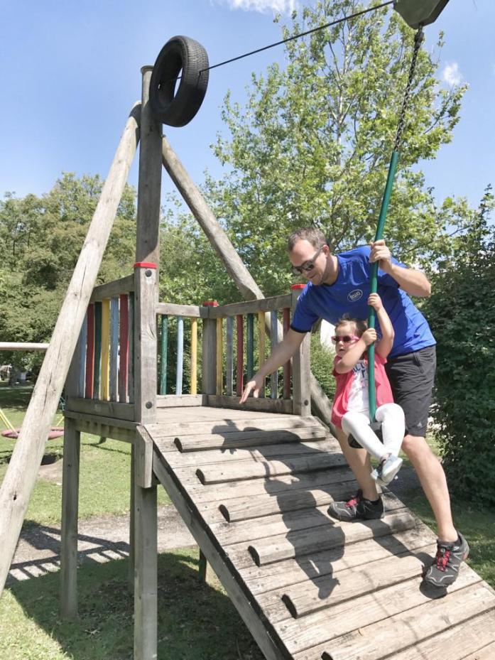 Familienausflug Nationalpark Donauauen. Familien Radausflug. Spielplatz Mühlleiten.