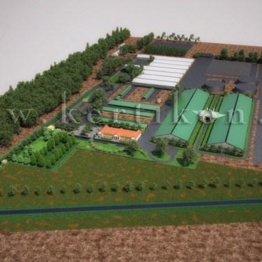 3D látványterv, környezetalakítás - telephely áttekintő terv, Mezőhegyes