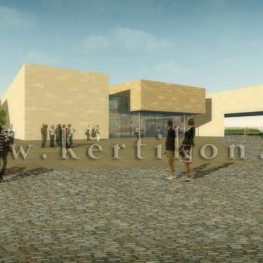 Orczy kert és Ludovika tér környezetalakítás, 3D látványterv; közterület és intézményterület csatlakozás