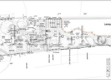 Kertépítészeti terv - családi ház kert tervezés lejtős terepen
