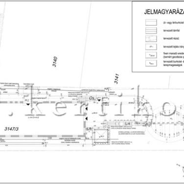 Kitűzési terv, családi ház kertje, kertépítészeti kiviteli terv