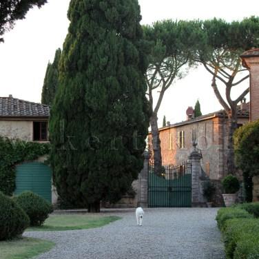 Villa di Geggiano: a díszudvar ma is barokk stílusjegyeket mutat