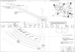 Íves kerti lépcső és támfal - teraszolt kert tervezése