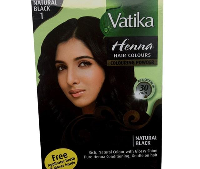 Vatika Rich Black Henna Hair Colour