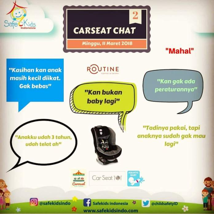 Safekids Indonesia : Carseat Chat – Tangsel -11 Maret 2018