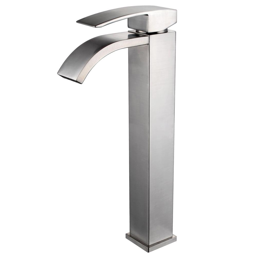 lead-free brass bathroom sink faucet single handle waterfall spout