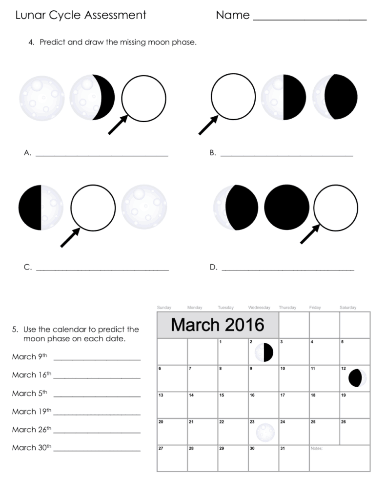 Diagrams Of All The Moon Phases Diagram Phase