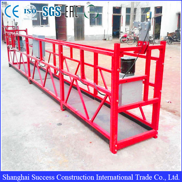 ZPL series electric wires rope lift scaffold platforms for cleaning ...