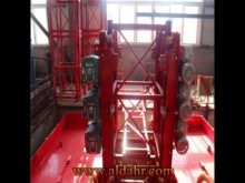 100m Single Cage Construction Hoist Elevator, Steel Galvanized Material