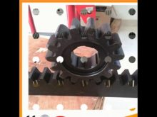 Black Oxide Spur Gear With Rack